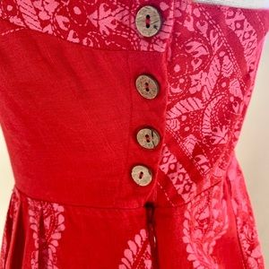 New Free People Feel The Sun Jumpsuit Red 10